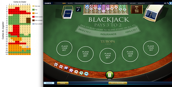 Blackjack System Play