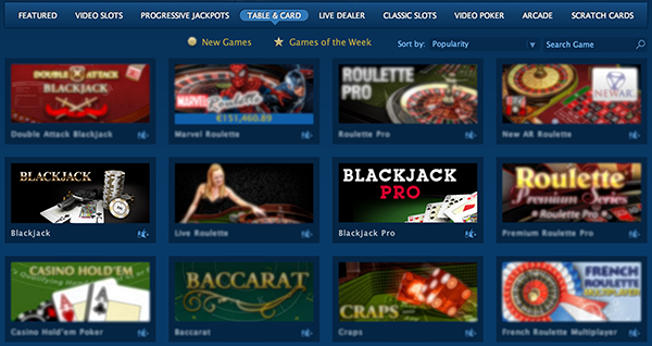 Choose Blackjack game